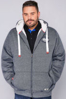 Yours Clothing D555 Denim Blue Fleece Lined Hoodie