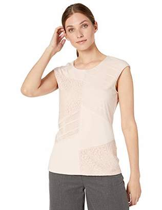 Calvin Klein Women's Sleeveless Top with Lace Combo