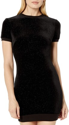 Dress the Population COSMOPOLITAN x Junior's Malorie Velvet Sequin Bodycon Mini Dress