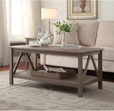 Linon Candler Driftwood Coffee Table