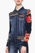 Desigual Embroidered Denim Jacket