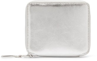 Comme des Garcons Zip-around Leather Wallet - Silver