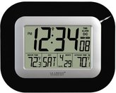 La Crosse Technology WS-8115U-B Digital Wall Clock with Indoor and Outdoor Temperature