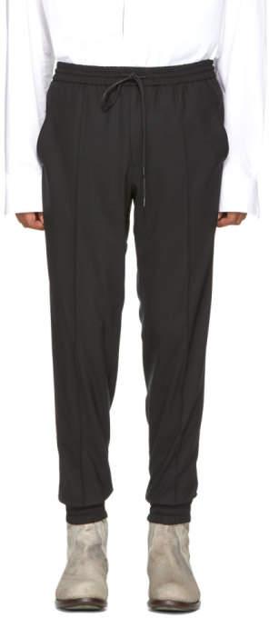 Juun.J Black Wool Drawstring Trousers