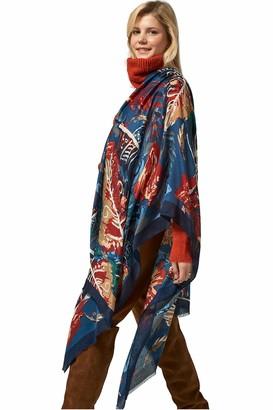 Leamel Leaf Pattern Soft Stylish Lightweight All-Season Versatile Scarf for Women Elegance Gift For Her Gift Pack Navy Blue 2 90cm x 180cm