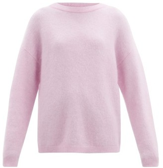 Acne Studios Dropped-shoulder Brushed-knit Sweater - Pink