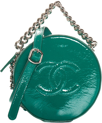 Chanel 2018 Green Patent Leather Round As Earth Bag Nm