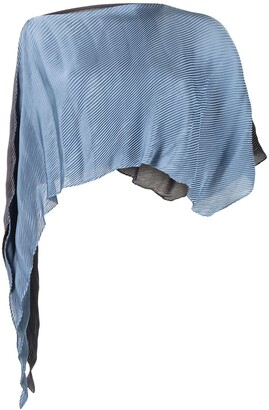Issey Miyake Plisse Cropped Top