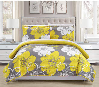 Chic Home Woodside 3 Piece King Quilt Set Bedding