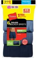 Hanes Men's TAGESS Boxer Briefs w/ComfortSoft Waistband 6-PK (Incudes 1 Free Bonus Boxer Brief), Size