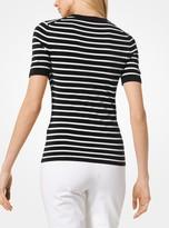 Michael Kors Striped Viscose T-Shirt