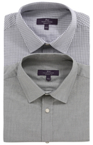 George 2 Pack Tailor & Cutter Short Sleeve Shirts