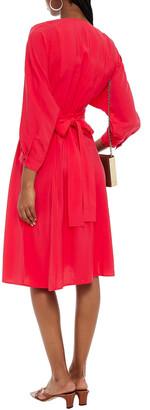 BA&SH Cauka Belted Broadcloth Dress