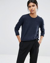 Selected Maia Fine Gage Sweater in Navy