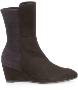 Stuart Weitzman Beatrice Suede Wedge Boots