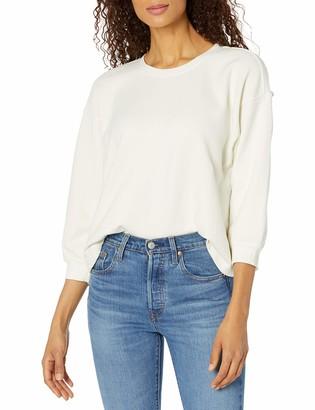 Velvet by Graham & Spencer Women's Sarah Soft Fleece 3/4 Puff Sleeve Sweatshirt