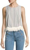 Lucca Couture Fringe Shell Top