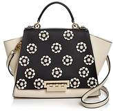 Zac Posen Eartha Iconic Soft Faux-Pearl Floral Leather Satchel