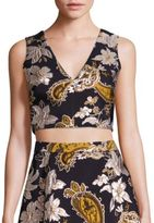 Alice + Olivia Jaya Cropped Top