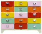 15 Drawer Cabinet Finish: Red/Orange/Yellow/Aqua/Light Purple