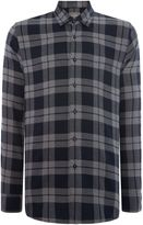 Peter Werth Men's Outward Check Slim Fit Long Sleeve Button Down Sh