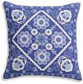 Cupcakes And Cashmere Blue Frame Decorative Pillow, 16 x 16