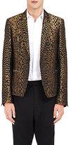 Haider Ackermann Men's Madeline Single-Button Sportcoat-BLACK, BROWN, DARK GREEN