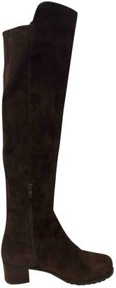 Stuart Weitzman Brown Suede Boots
