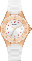 Michele Tahitian Jelly Bean Petite Carousel Watch, White/Rose