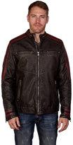 X-Ray XRAY Men's Xray Striped Moto Faux-Leather Jacket