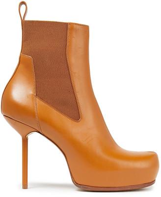 Rick Owens Leather Platform Ankle Boots