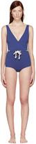 Lisa Marie Fernandez Navy Yasmin Swimsuit