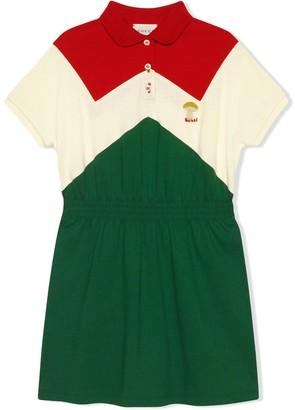 Gucci Kids Mushroom Embroidered Dress