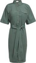 Brunello Cucinelli Bead-embellished Cotton And Silk-blend Shirt Dress