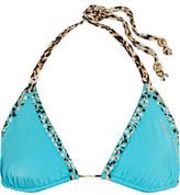 Just Cavalli Embellished Triangle Bikini Top