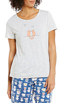 Sleep Sense Perched Cats Jersey Sleep Top