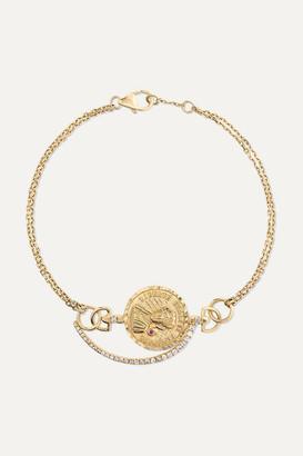 Anissa Kermiche Louise D'or 18-karat Gold Multi-stone Bracelet