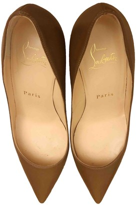 Christian Louboutin Pigalle Brown Leather Heels