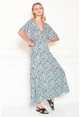 MKT Studio Roman Dress in Vanilla - 36 | blue | viscose - Blue/Blue