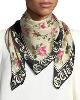 "Gucci Foulard ""Blind for Love"" Silk Scarf"