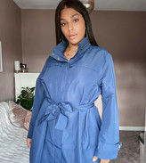 Thumbnail for your product : Junarose funnel neck lightweight coat in navy