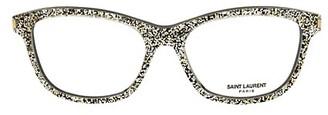 Saint Laurent Core 52MM Glitter Rectangular Optical Glasses