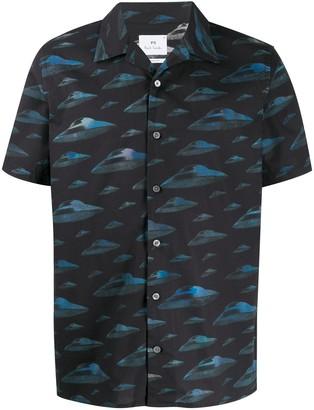 Paul Smith Spaceship graphic shirt