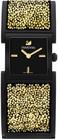 crystalline bangle blacklight gold tone watch