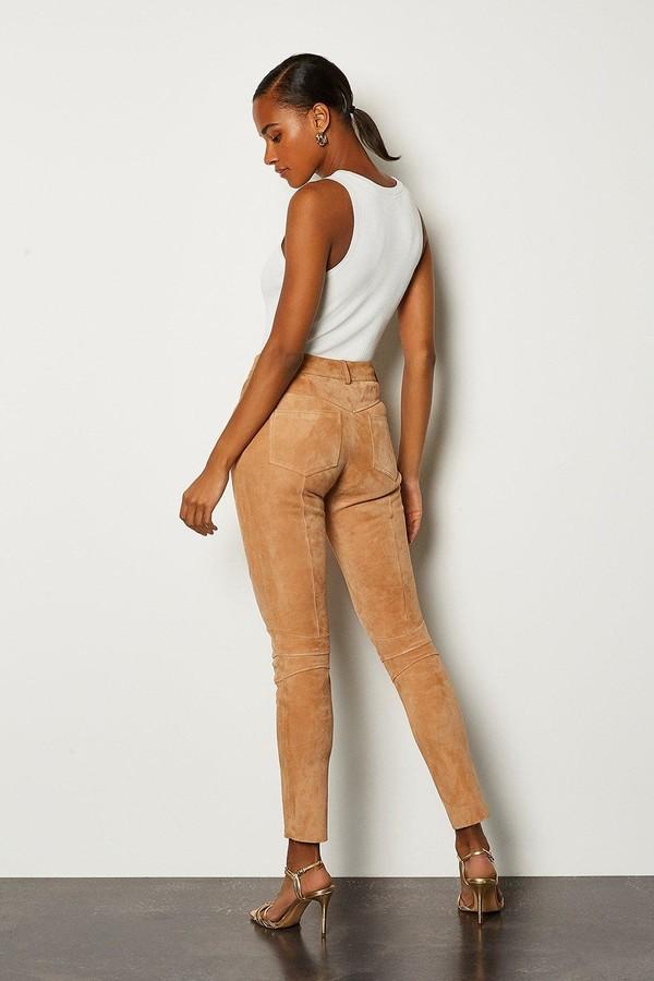 Thumbnail for your product : Karen Millen Stretch Suede Biker Leggings