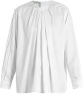 Stella McCartney Gathered cotton blouse