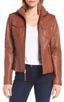 MICHAEL Michael Kors Women's Front Zip Leather Jacket