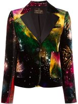 Roberto Cavalli 'universe' print blazer - women - Viscose/Silk/Cotton/Polyester - 40