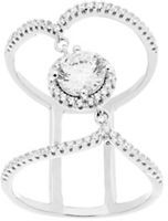 Lord & Taylor Double Strand Center Cubic Zirconia Wavy Ring
