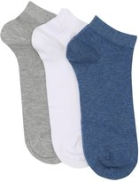M&Co Cotton rich trainer socks three pack